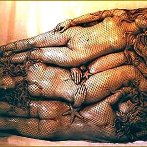 Joseph Canger Sculptures, fish net, star fish