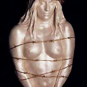Joseph Canger Sculptures, handcuffs, barbed-wire